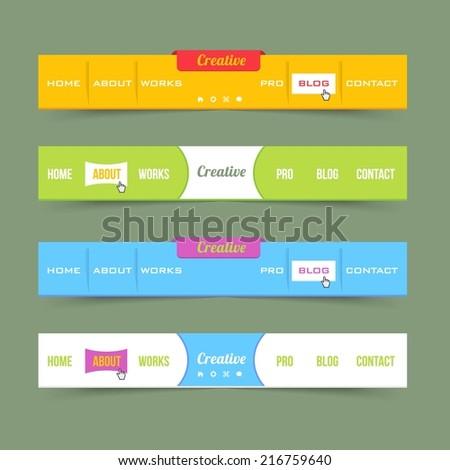 website menu design