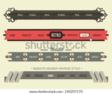 Vector Header Menu Design - stock vector
