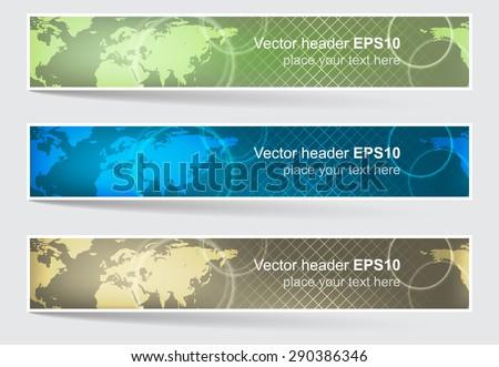Vector header banner world map background stock vector royalty free vector header or banner world map background editable design for your website presentation gumiabroncs Images