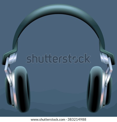 Vector headphones icon. Flat headphones icon. Flat design vector illustration concept for web banner, web and mobile, infographics. Headphones icon graphic. Vector icon isolated on gradient background - stock vector