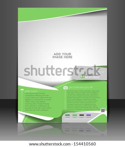 Vector Health Insurance Flyer, Magazine Cover & Poster Template - stock vector