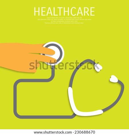 Vector healthcare illustration. Eps 10. - stock vector