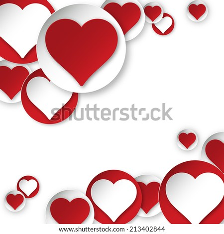Vector heart background