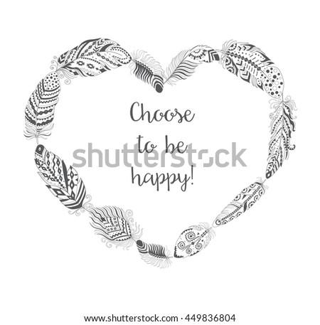 Stylized Vector Heart Tattoo Tribal Stock Photos Royalty