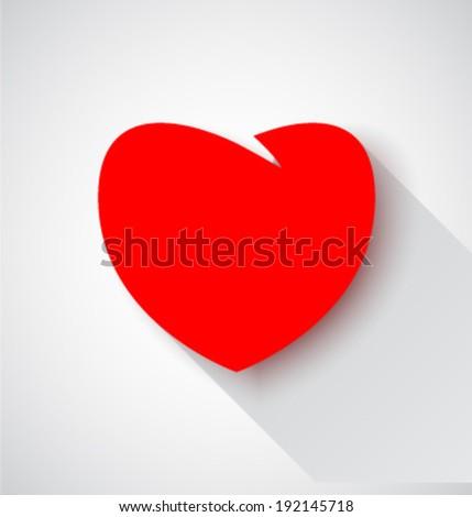 Vector heart icon - stock vector