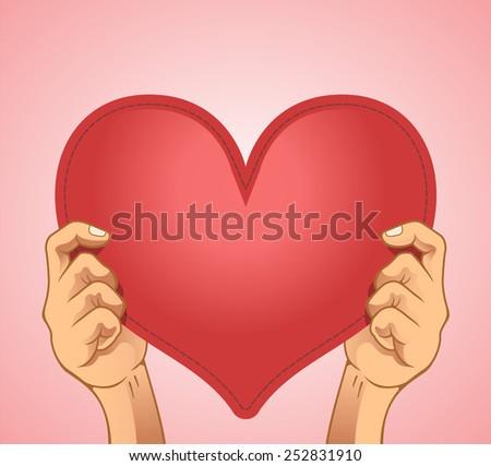 Vector heart illustration - stock vector