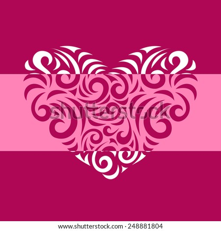 Vector Heart - Illustration. Elements for cards, gifts, crafts, invitation. - stock vector