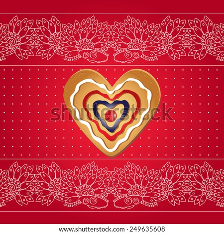 Vector Heart - Illustration. Elements for gifts, crafts, invitation, presentation, invitation card, Valentines Day, Christmas, birthday, wedding.  - stock vector