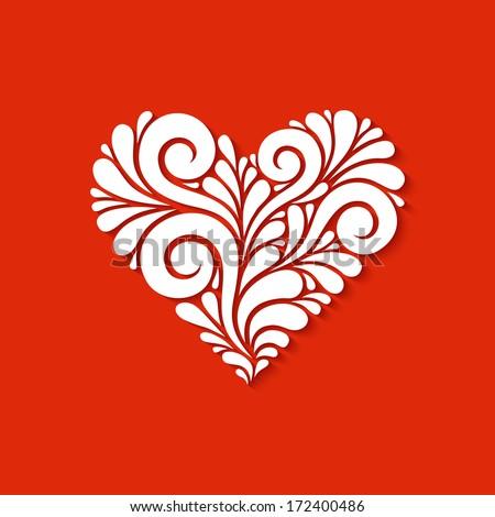 Vector heart made swirl white shapes stock vector 172400486 vector heart made from swirl white shapes original modern design element greeting invitation stopboris Choice Image