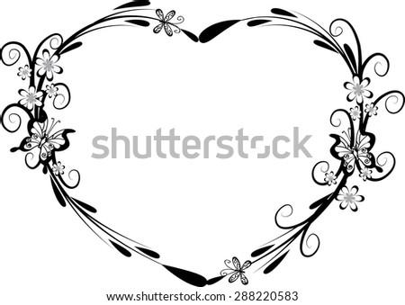 Vector Heart Shape Frame Design Stock Vector (Royalty Free ...