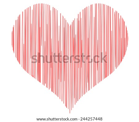 vector heart - symbol of love - stock vector
