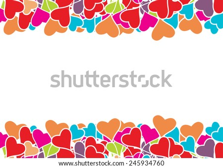 Vector  Heart  Valentines   background