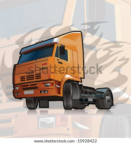 Vector heavy truck. - stock vector