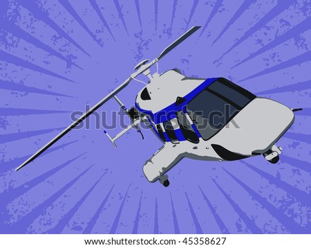 Vector helicopter - stock vector