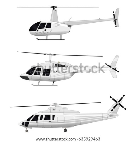 Vector helicopter. Set