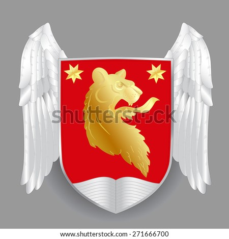 Vector heraldic royal crests coat of arms. Heraldry template - stock vector