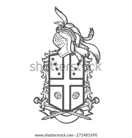 Vector Heraldic Royal Crests Coat Arms Stock Vector 325903715