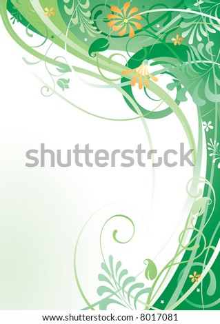 Vector herbal background