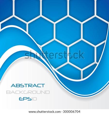 Vector hexagon business brochure - stock vector
