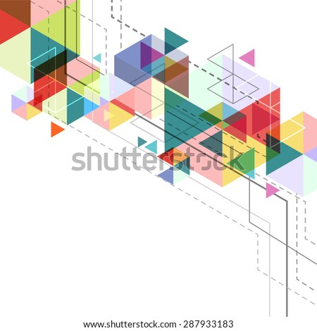 vector hexagon geometry, abstract polygon background, triangle poster design