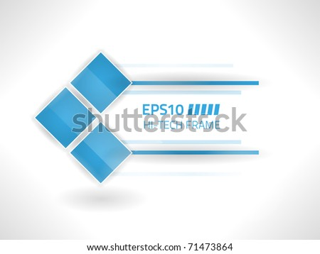 Vector hi-tech frame against white background - stock vector