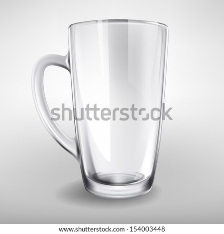 Vector high glass empty realistic cup - stock vector