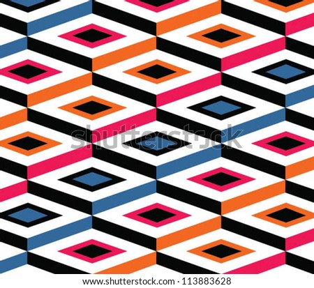 Vector hipster pattern, geometrical forms, simple colors, vogue style - stock vector