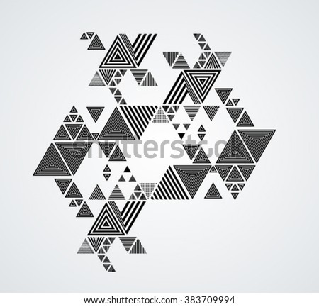 Vector Hipster Triangle Background . poster with different elements. Abstract Geometrical Poster. Modern Design Template with geometric shapes in various forms.illustration. - stock vector