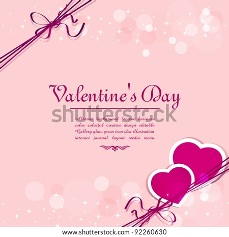 vector holiday background with hearts for Valentine's Day - stock vector