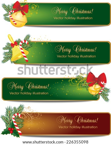 Vector Holiday banners - stock vector