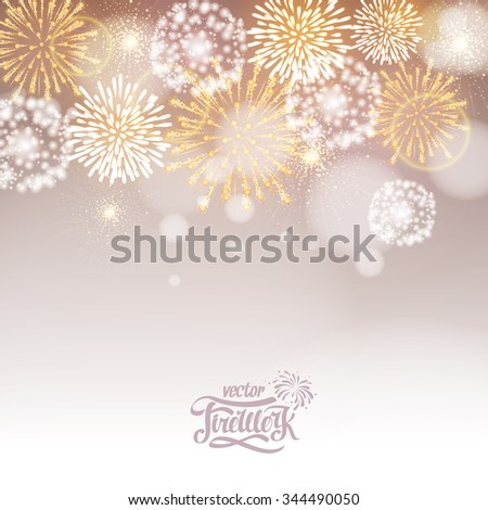 Vector holiday firework - stock vector