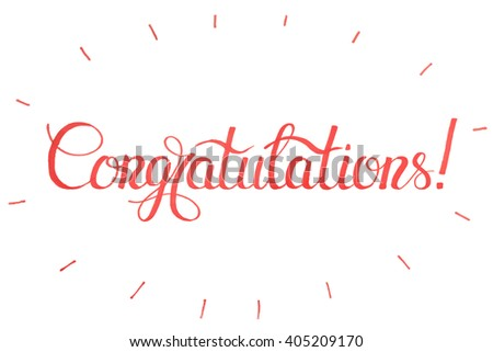 Vector holiday illustration.Congratulations card.Congratulations,congratulations banner,congratulations card.Typography Lettering - stock vector
