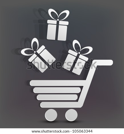 Vector holiday shopping background. Eps10 creative illustration - stock vector