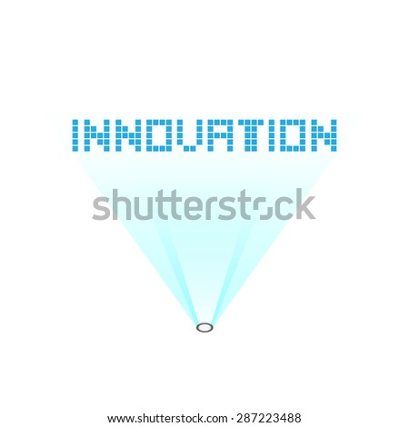 vector holograph innovation, abstract technology background - stock vector