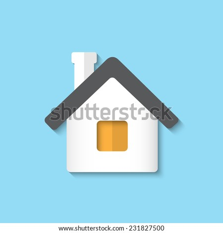 Vector home flat icon. Eps 10 vector illustration. - stock vector
