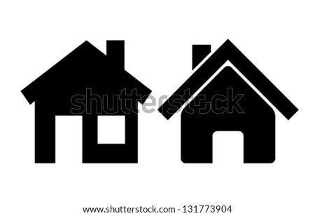 Vector home icons - stock vector