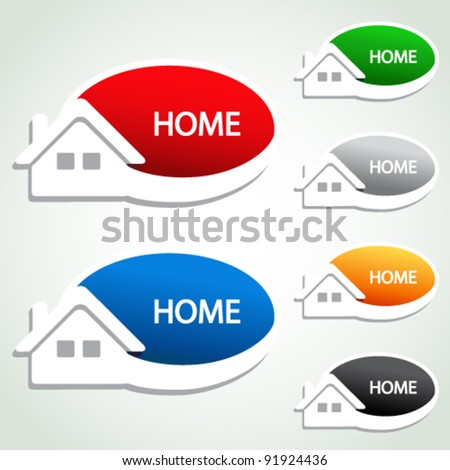 Vector home menu item - homepage symbol - stock vector