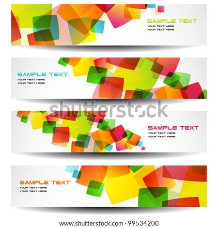Vector Horizontal Banners - stock vector