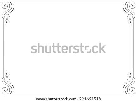 vector horizontal frame. Element for graphic design - stock vector