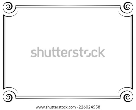 vector horizontal frame. Element for graphic design - stock vector