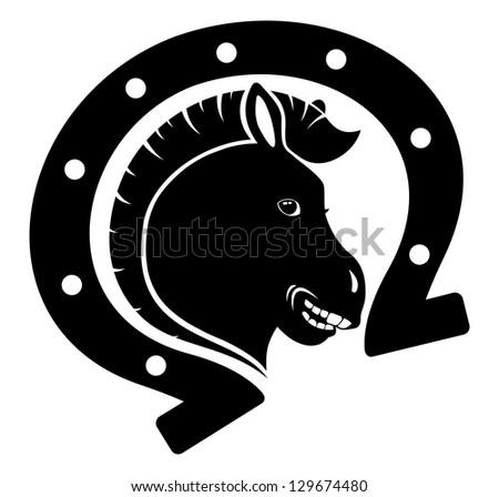 Vector. Horse icon. - stock vector