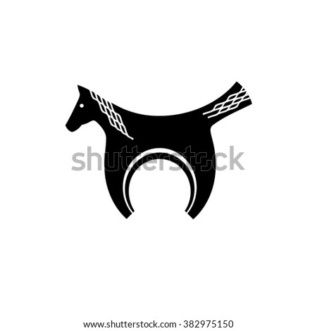 Vector Horse / pendant . Logo. Business icon for the company. Jewelry. Wedding / engagement day. Vector illustration. - stock vector