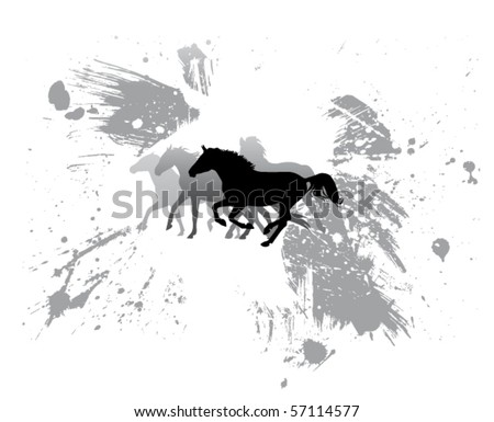 vector horse sketch - stock vector