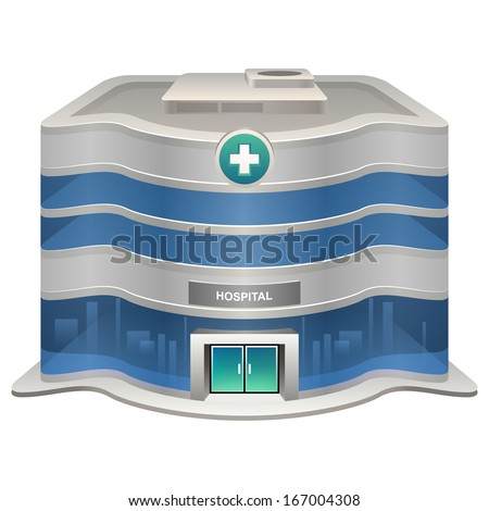 Vector hospital icon - stock vector