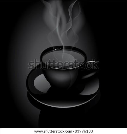 Vector hot drink cup - stock vector