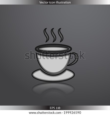 Vector hot drink web flat icon.  Isolated. Flat design.