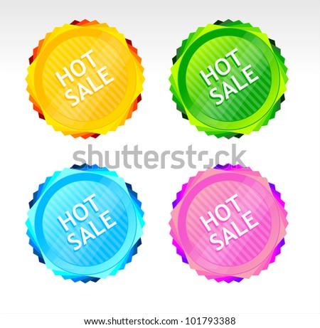 Vector Hot Sale signs - stock vector