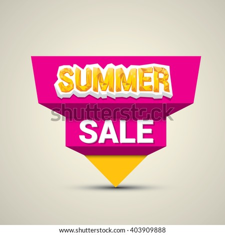 vector hot summer sale sticker . summer sale banner or label