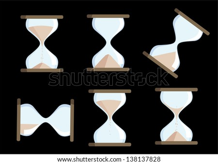 vector hourglass animation