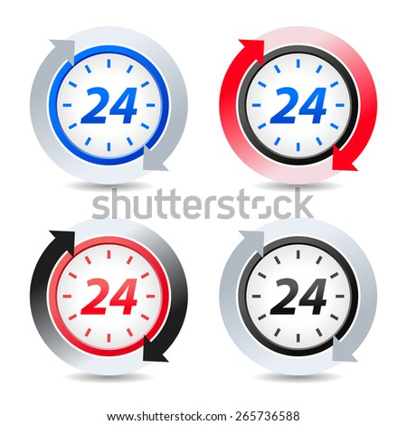 Vector 24 hours - stock vector